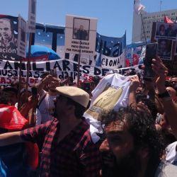 Jorge Castillo en la marcha por los presos políticos | Foto:Cedoc