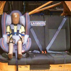 Evaluación de sillas infantiles. Foto: Latin NCAP.
