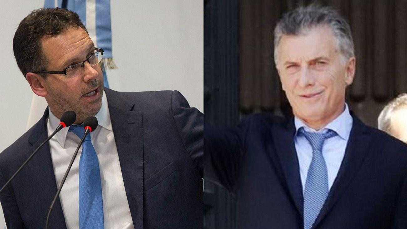 Guido Sandleris, presdidente del Banco Central y Mauricio Macri, Presidente de la Nación.