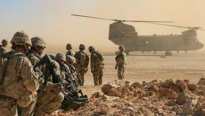 Un claro ejemplo de gasto militar: el ejército de Estados Unidos.