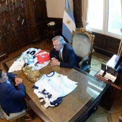 Maradona y Alberto Fernández