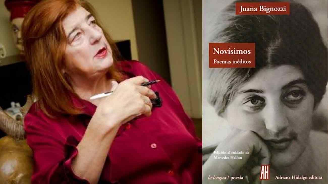 """Juana Bignozzi y el libro póstumo """"Novísimos"""""""