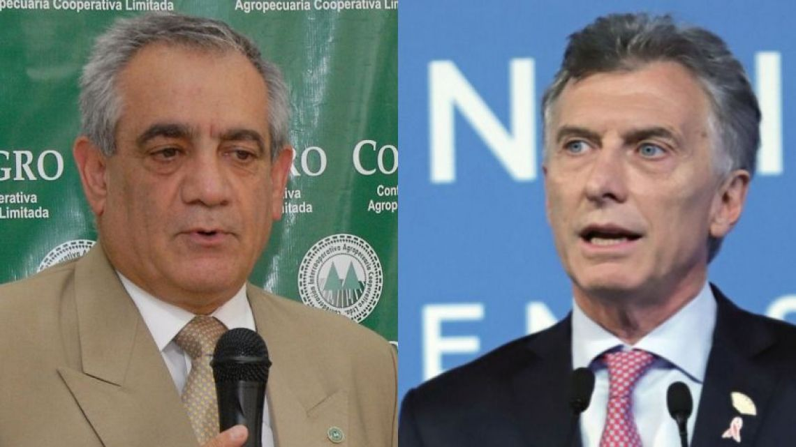 Director of Coninagro is upset with Macri.