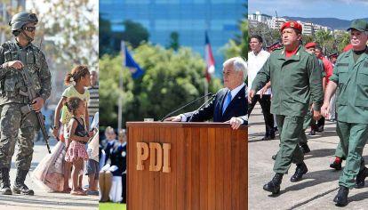 De punta a punta. En Brasil, las Fuerzas Armadas están entre las instituciones más prestigiosas de la sociedad. Intervienen desde la década pasada, aún en los gobiernos de Lula y Dilma. Hugo Chávez hizo crecer el poderío militar. En la crisis, Sebastián Piñera apeló al ejército para intentar evitar los desbordes.