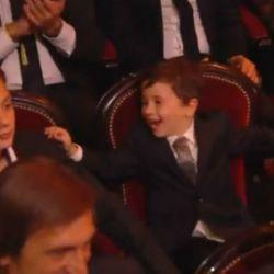 Mateo y Thiago Messi