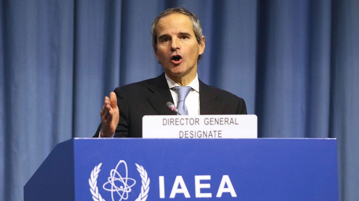 The designated director general of International Atomic Energy Agency, IAEA, Rafael Mariano Grossi from Argentina, delivers a speech at the beginning of a general confernce of the IAEA, at the International Centre in Vienna, Austria, Monday, December 2, 2019.