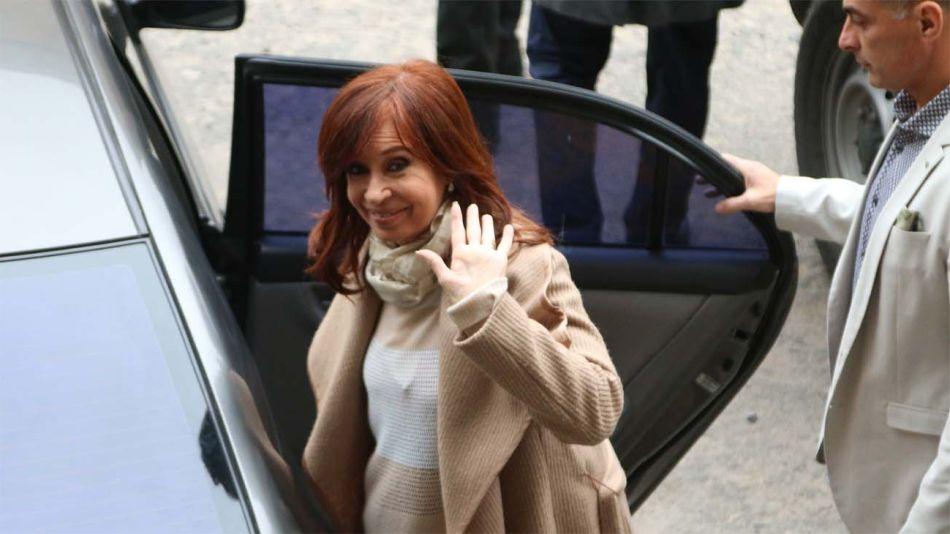 Cristina Fernández de Kirchner en los tribunales federales de Comodoro Py