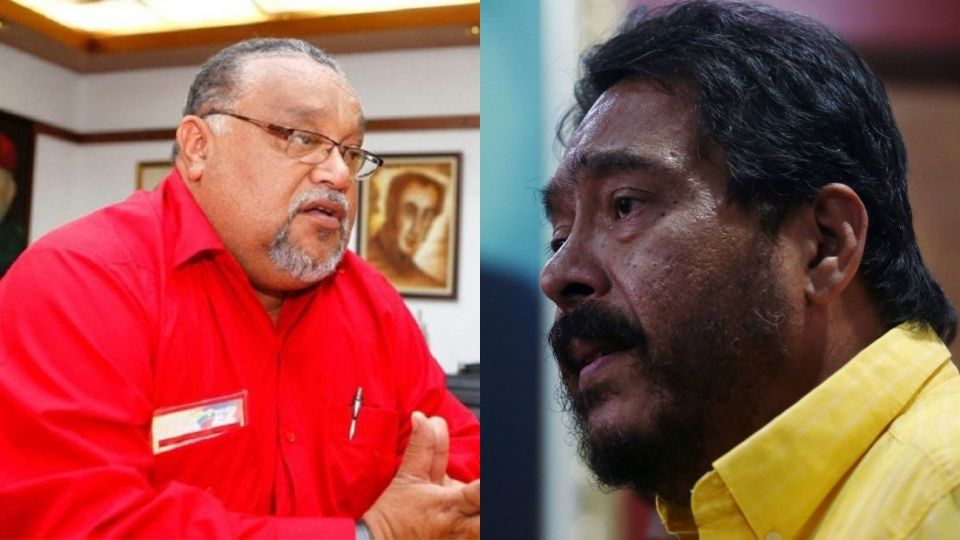 Los dirigentes del sindicato de Petroleros de Venezuela, Will Rangel y Jacobo Torres.