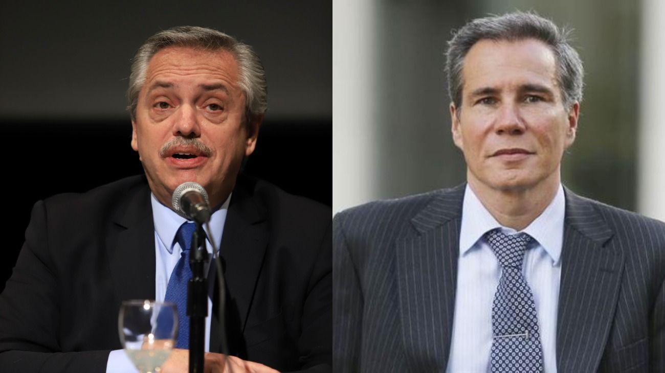 Alberto Fernández y Alberto Nisman.