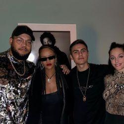 Oriana Sabatini y Paulo Dybala conocieron a Rihanna