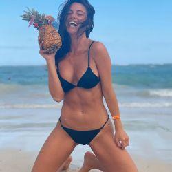 Sofía Jujuy en la playa