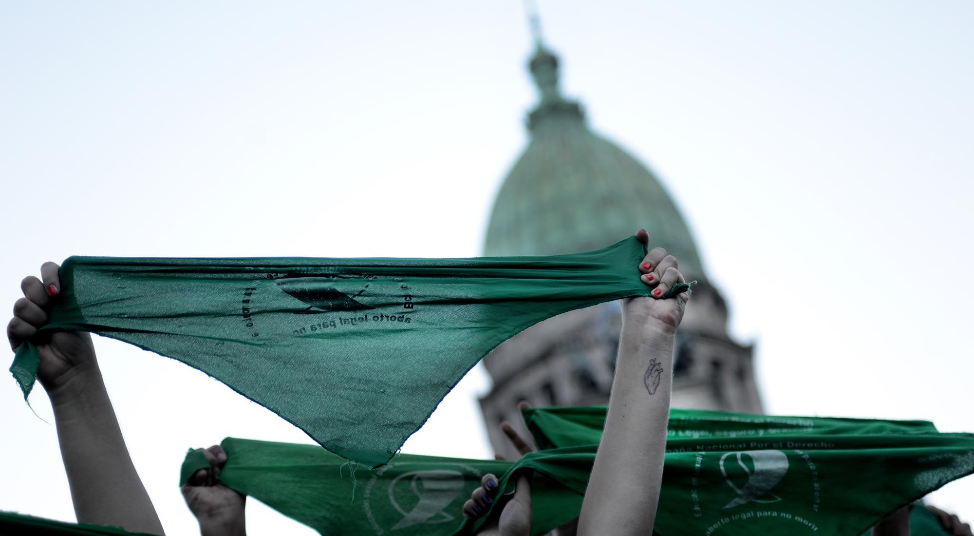 Manifestaciones a favor del Aborto legal, gratuito y seguro en la Ciudad de Buenos Aires.