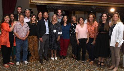 Los integrantes de la Coalición Cívica en la última reunión con Elisa Carrió como presidenta del bloque.