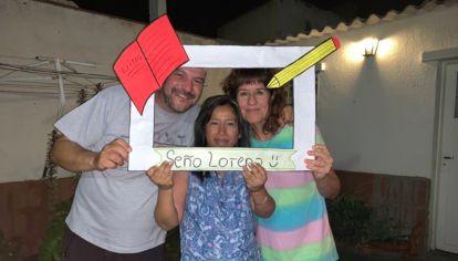 Lorena junto a Hugo y Mariana, con quienes trabaja hace 13 años.