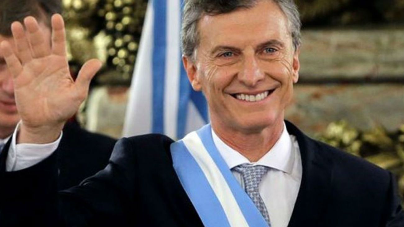 Mauricio Macri, cuando asumió la presidencia en diciembre de 2015.