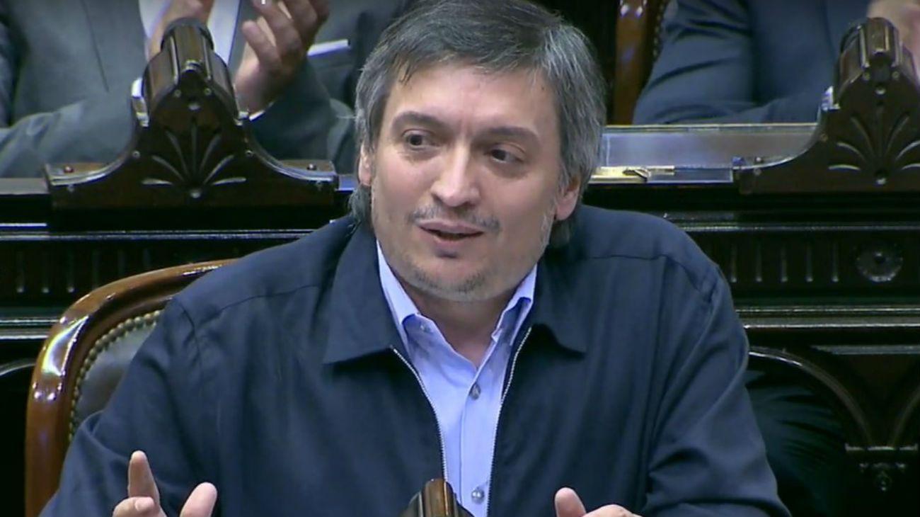 Máximo Kirchner, jefe del bloque de diputados del Frente de Todos.
