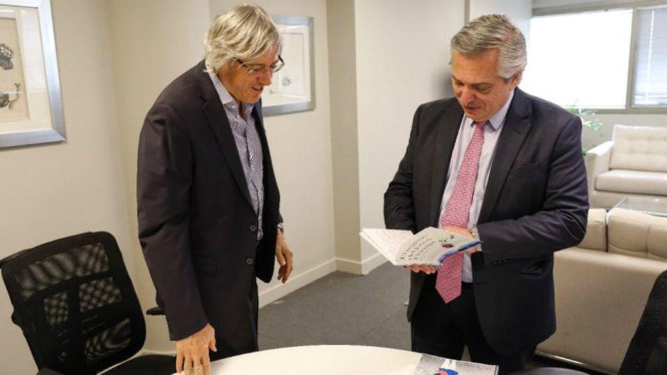 Alejandro Roemmers, en su reunión con el presidente electo Alberto Fernández.