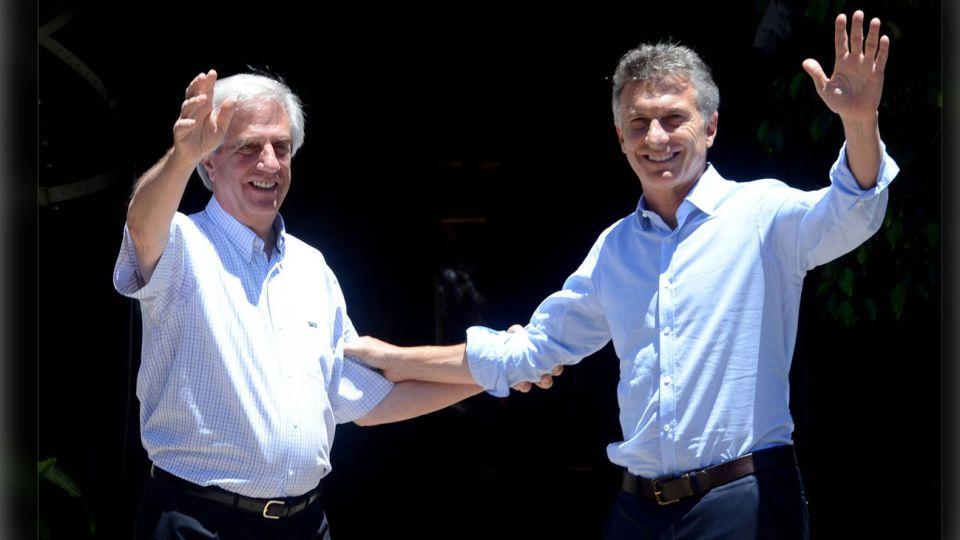 Mauricio Macri y Tabaré Vázquez 04122019