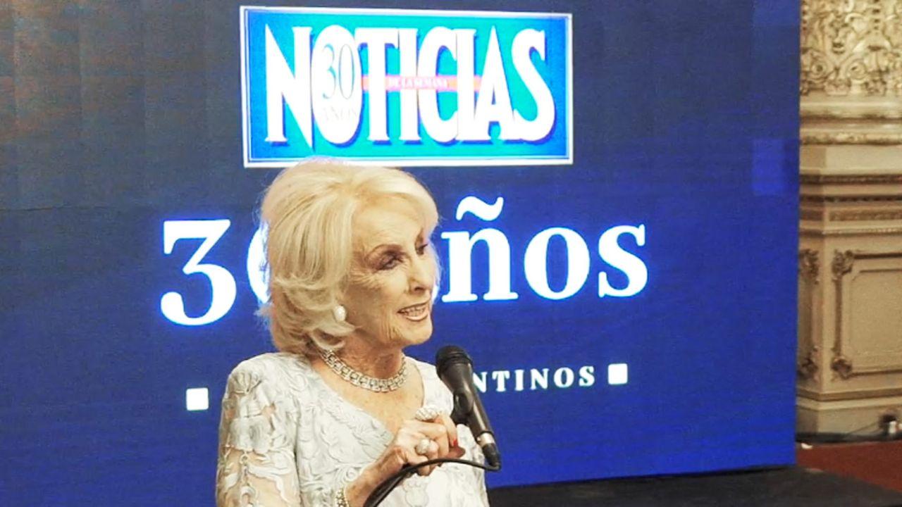 Mirtha Legrand recibió el reconocimiento en televisión | Foto:cedoc