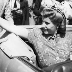 Eva Perón en Europa | Foto:Cedoc