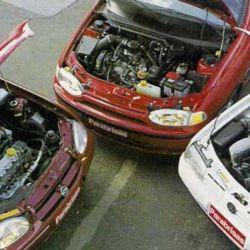 Volkswagen Gol, Fiat Palio, Chevrolet Corsa