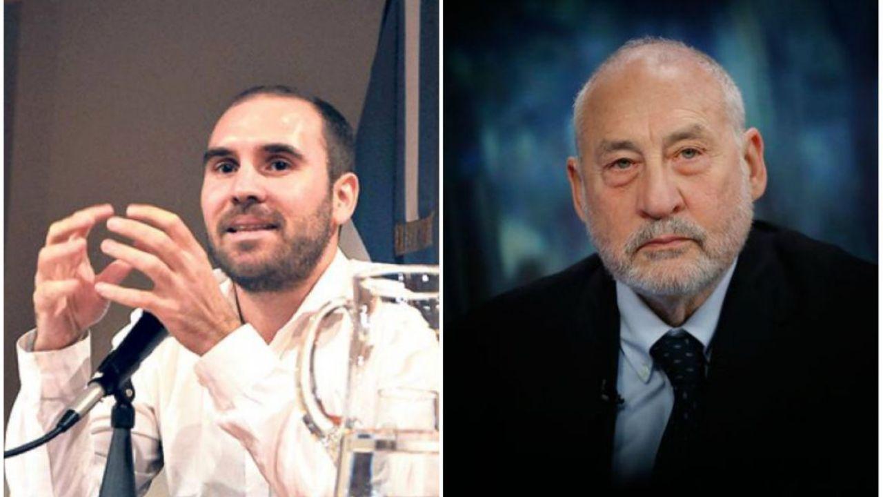 Martín Guzmán y Joseph Stiglitz   Foto:Cedoc