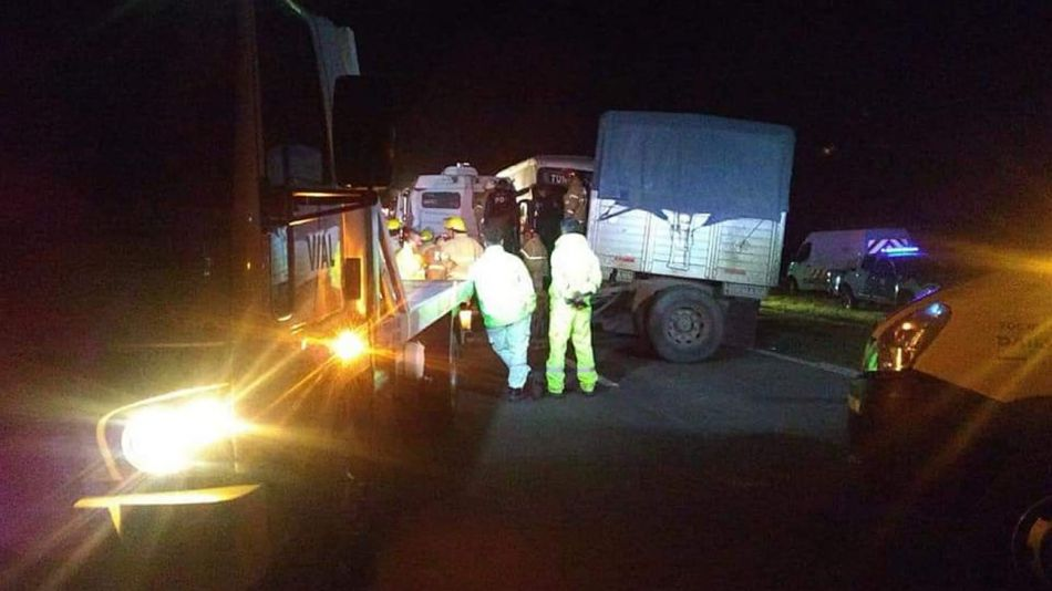 Accidente fatal en km 105 de Autopista Sta Fe Rosario