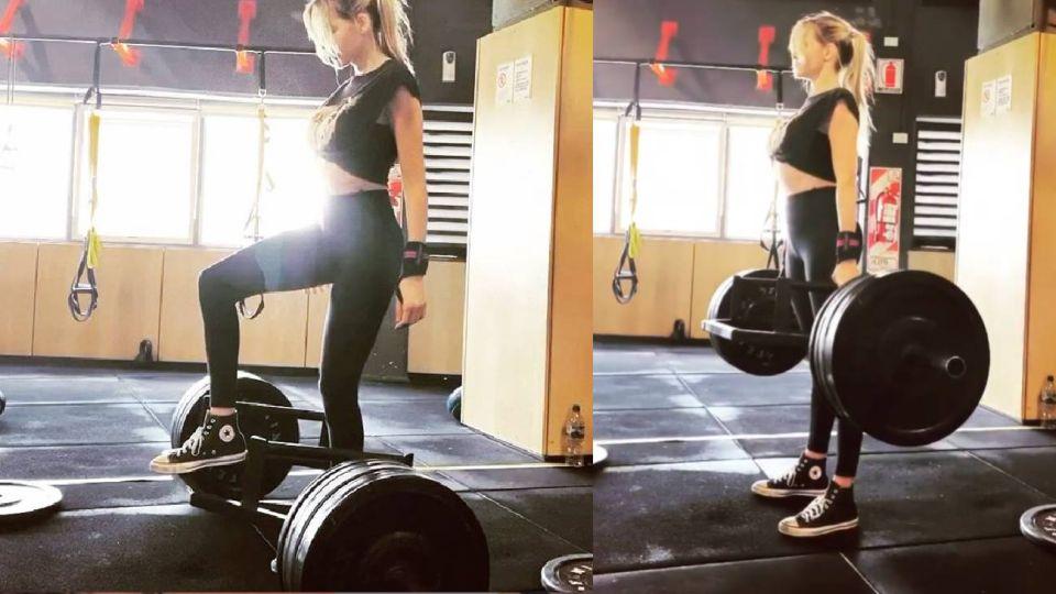 VIDEO   Guillermina Valdes compartió su rutina de ejercicios para mantener su lomazo
