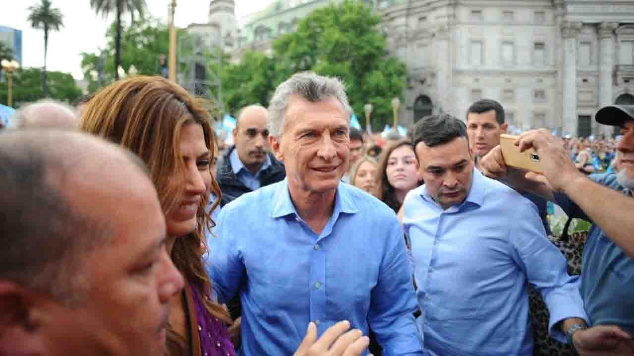 Convocatoria por la despedida de Mauricio Macri en Plaza de mayo