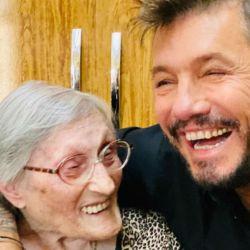 Marcelo Tinelli con su tía abuela