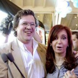 Tristán Bauer y Cristina Kirchner | Foto:cedoc