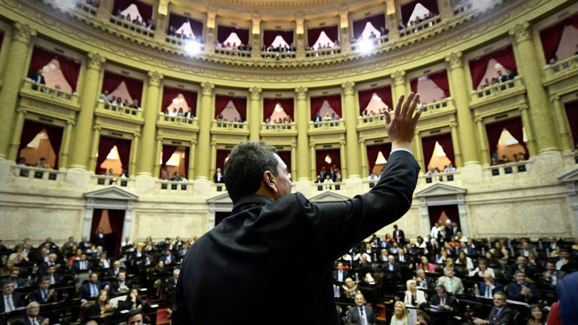Sergio Massa, the new speaker of the Chamber of Deputies.