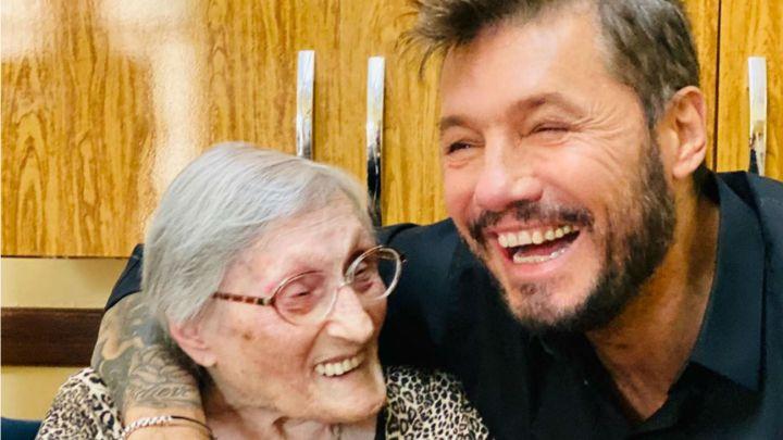 La foto viral de Marcelo Tinelli con su tía abuela