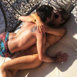 Laurita Fernández y Nicolás Cabré de vacaciones