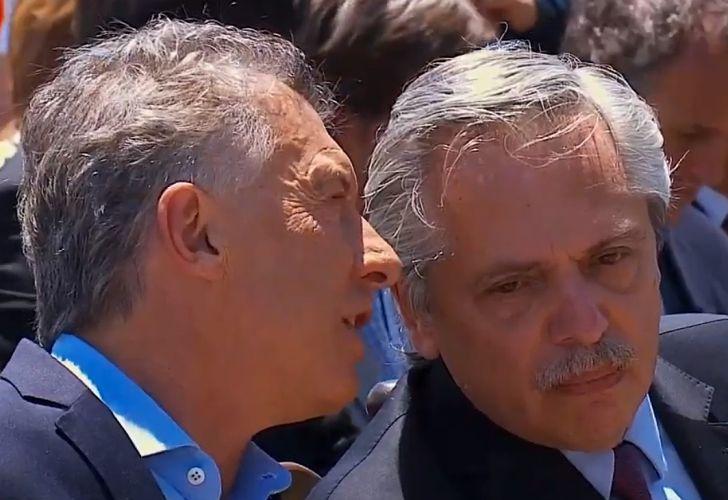 Macri y Alberto Fernandez en la misa de Luján: una postal de la transición.