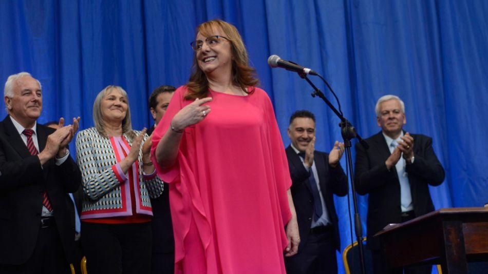 Alicia Kirchner, en el acto de asunción de su segundo mandato en Río Gallegos.