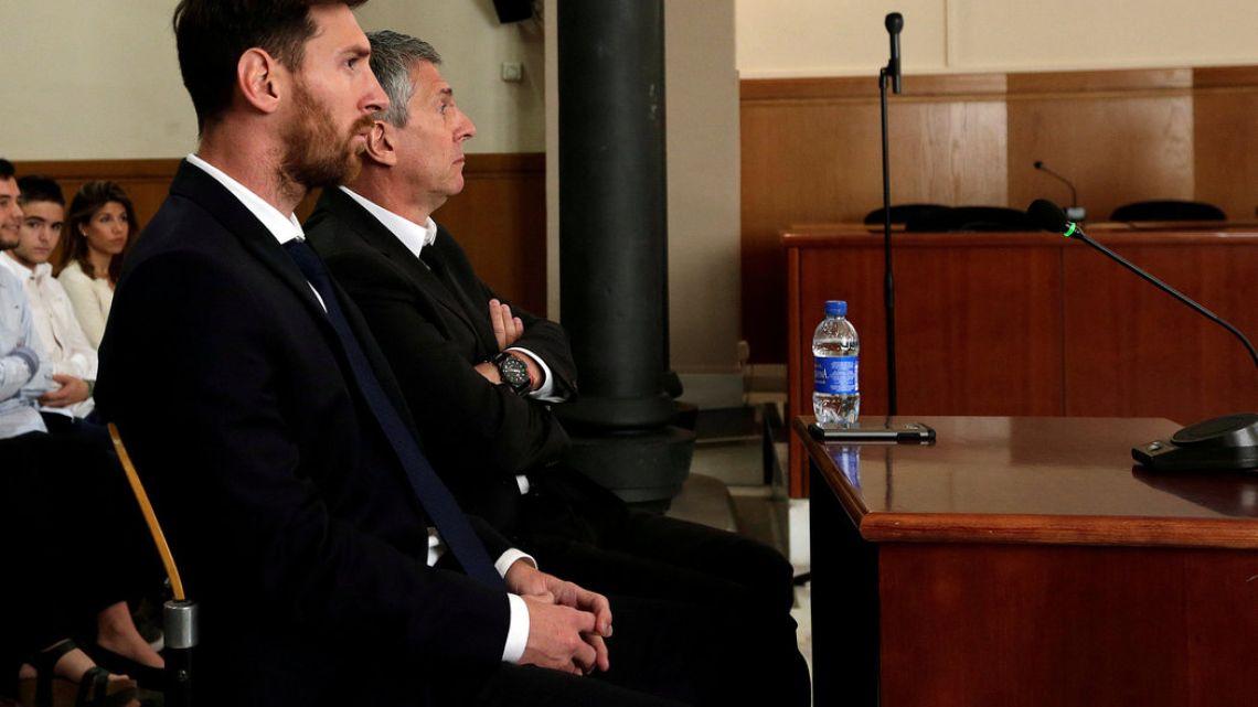 Lionel Messi y su padre fueron condenados en 2017. | Foto:Cedoc