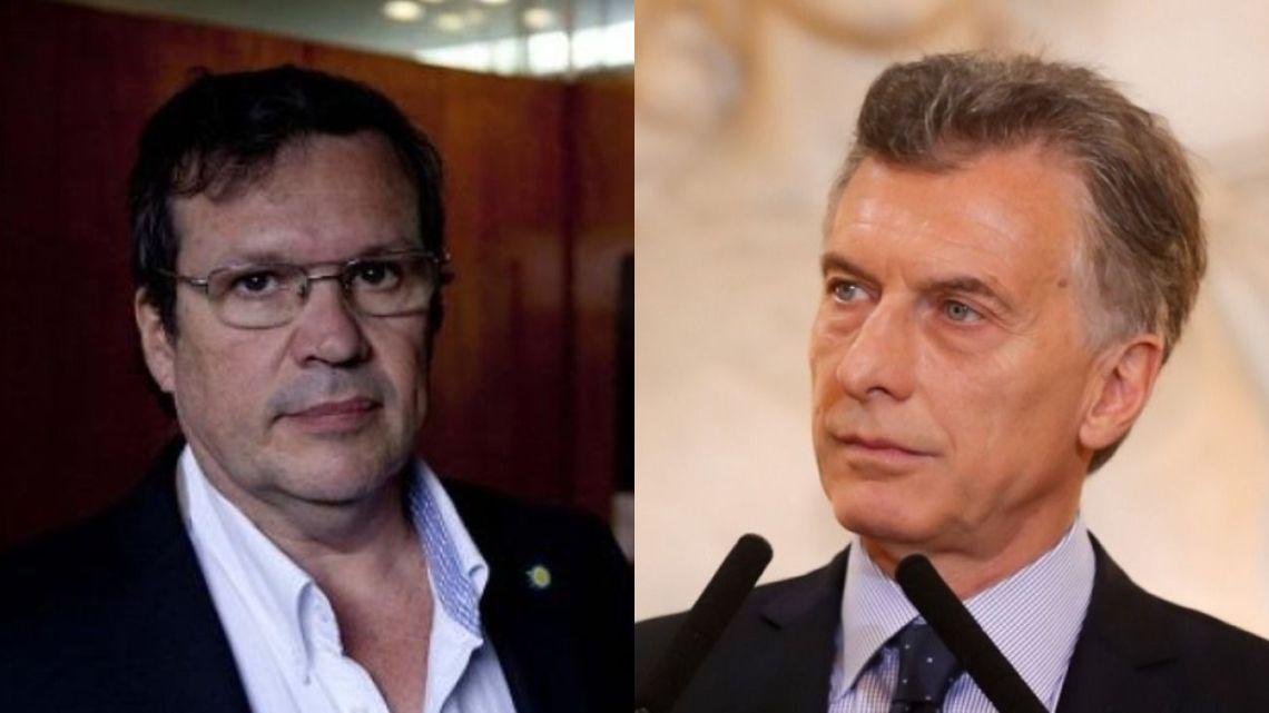 Tristán Bauer y Mauricio Macri | Foto:cedoc