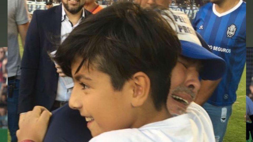 Diego Maradona y Benjamín Agüero