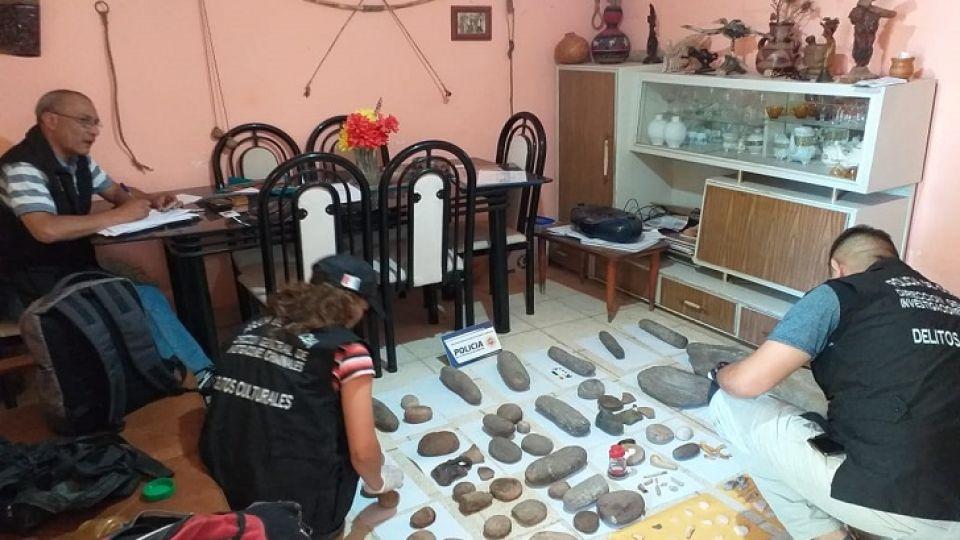 OPERATIVOS. Piezas recuperadas recientemente en un operativo realizado por Delitos Culturales en la ciudad de Alta Gracia.