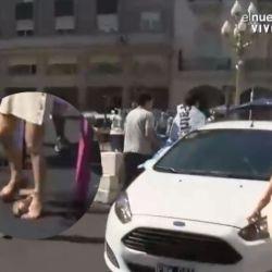 Un auto se llevó por delante a la periodista