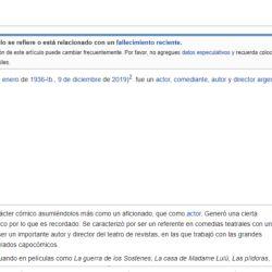 La falta de respeto a Santiago Bal en su Wikipedia