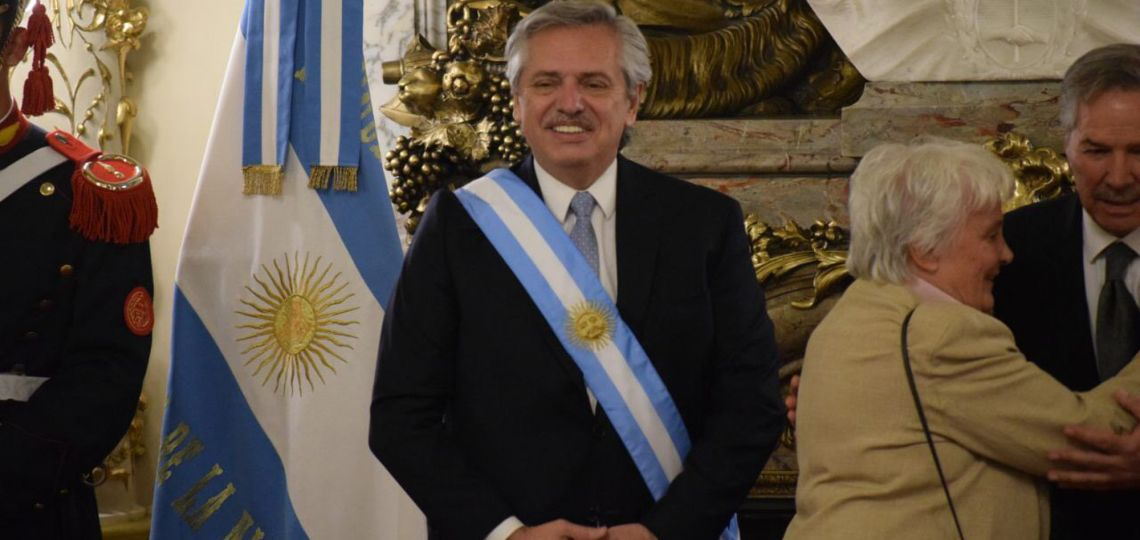 """""""Ni una menos"""" presente en el discurso de Alberto Fernández"""