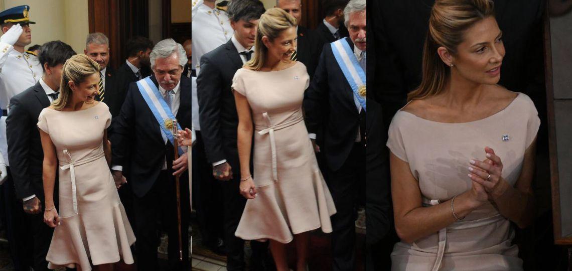 El elegante look de Fabiola Yáñez para la asunción de Alberto Fernández