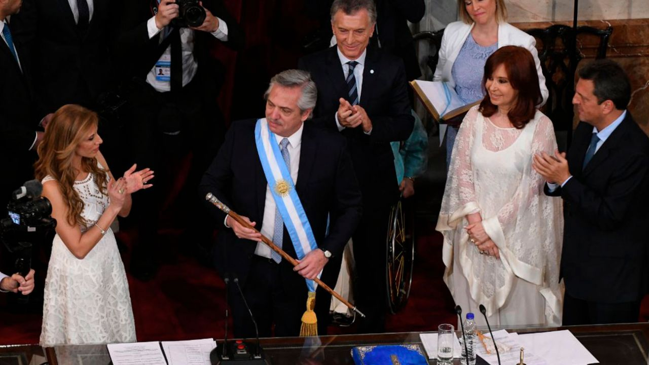Alberto Fernández, Mauricio Macri y Cristina Kirhcner | Foto:Juan Obregón