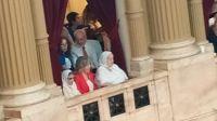Horacio Verbitsky, Hebe de Bonafini y Taty Almeida en la asunción de Alberto Fernández.