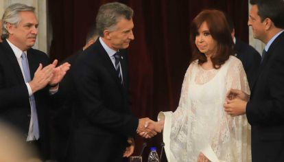 Cristina Fernández de Kirchner y Mauricio Macri.
