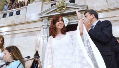 Cristina Kirchner asumió como vicepresidenta.