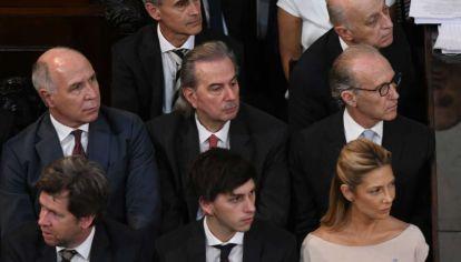 Los jueces de la Corte Suprema durante la asunción de Alberto Fernández (Archivo)