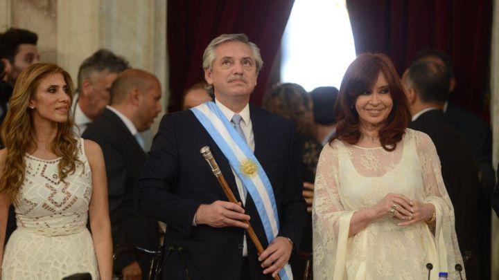 Así llegaba Alberto Fernández a su asunción